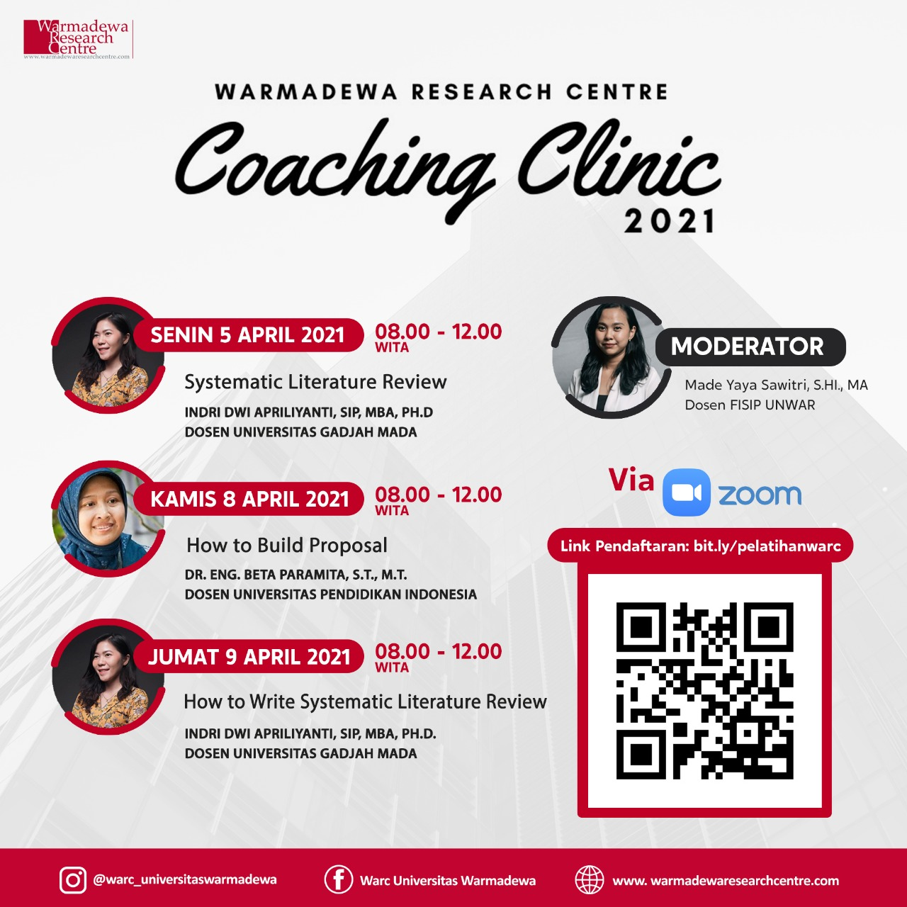 Seri Coaching Clinic Warmadewa Research Centre